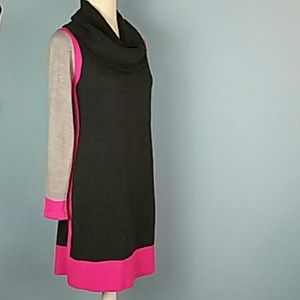 Eliza J sweater dress long sleeve cowl neck small